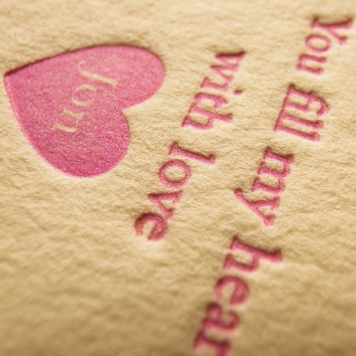 I LOVE YOU VALENTINES LETTERPRESS HEART 1