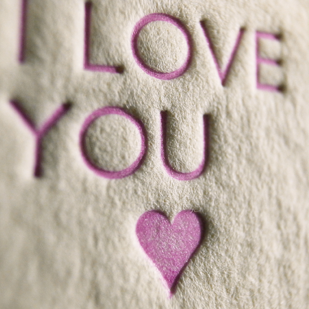 I LOVE YOU VALENTINES LETTERPRESS PRINT 1